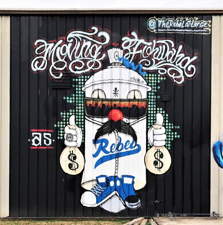 Rebel mural street art Nashville