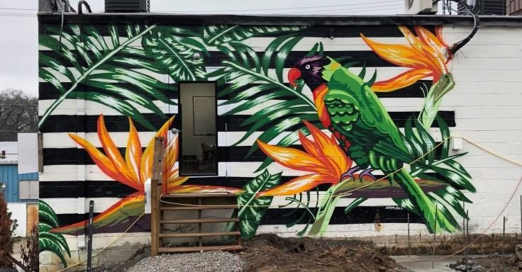 Bird mural street art Nashville