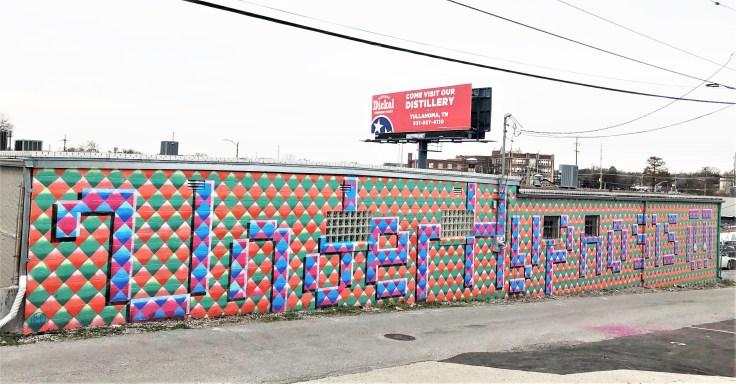 Under Hypnosis mural street art Nashville
