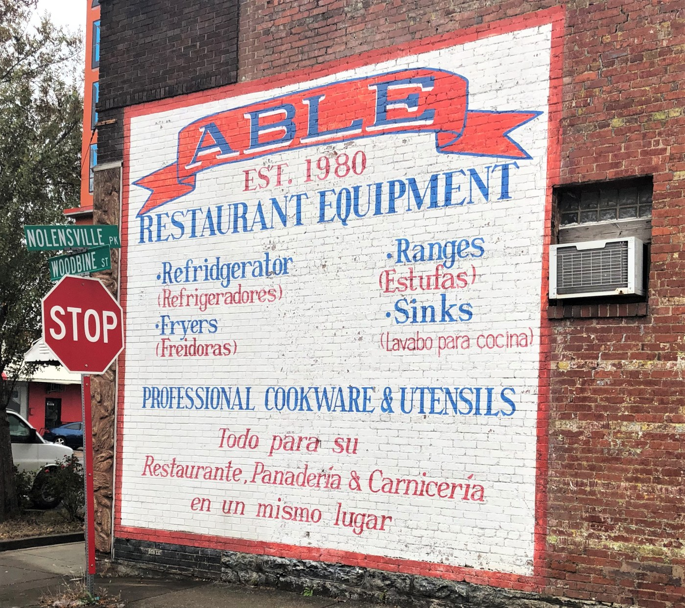 Able sign mural street art