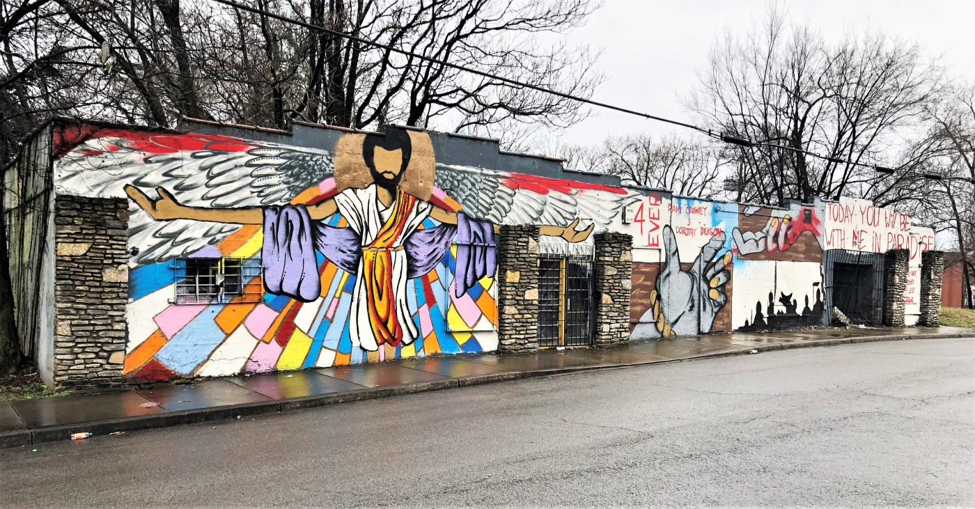 Jesus mural street art Nashville