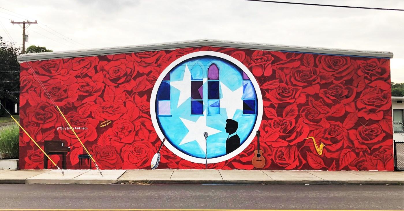 Anthem mural street art Nashville