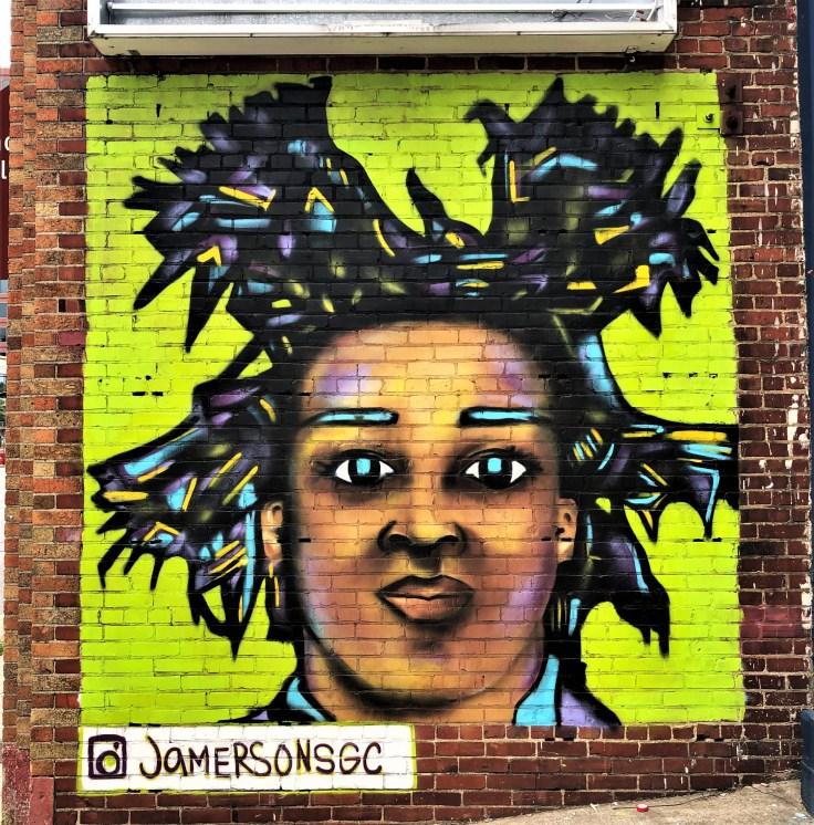Basquiat mural street art Nashville JamersonSGC