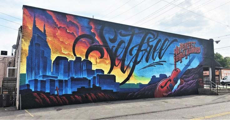 Set Free Mural street art Nshville