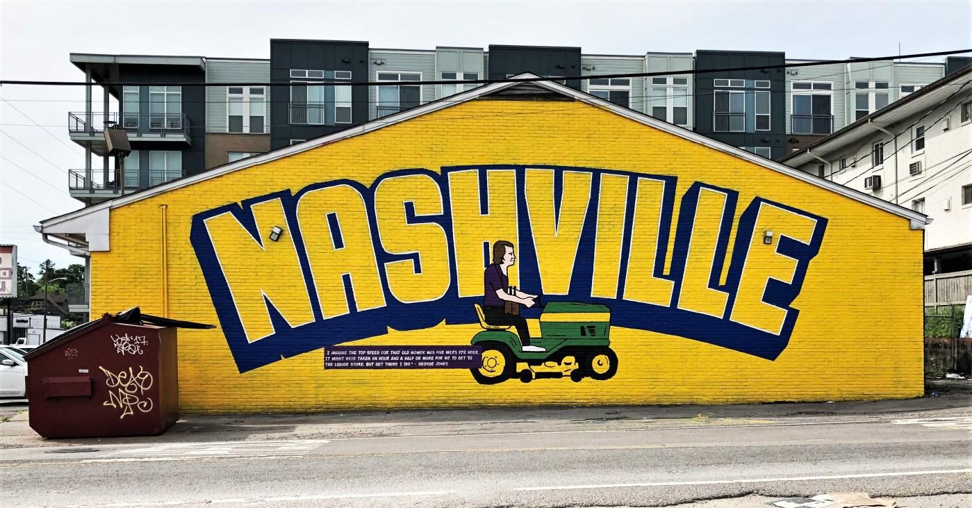 George Jones mural street art Nashville