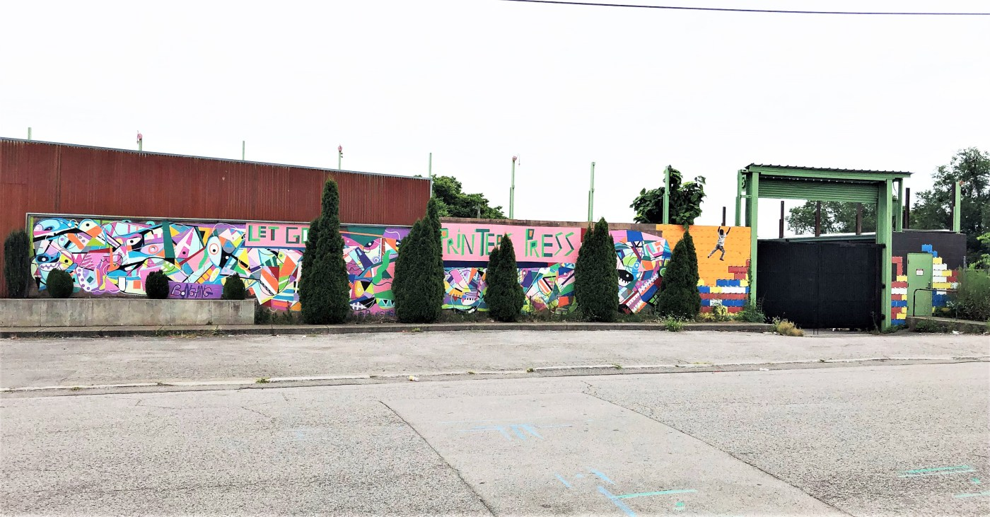 Printers Press murals street art Nashville