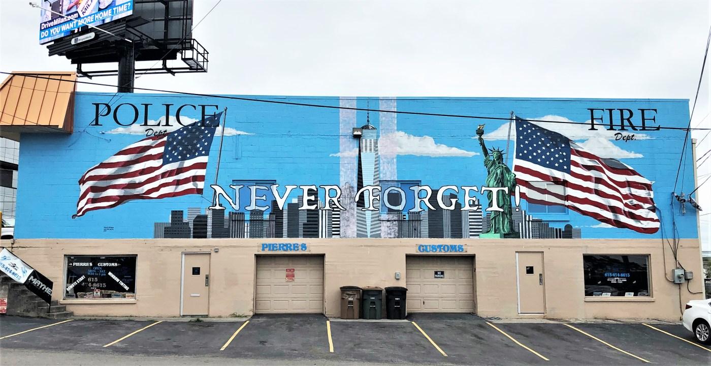 911 mural street art Nashville