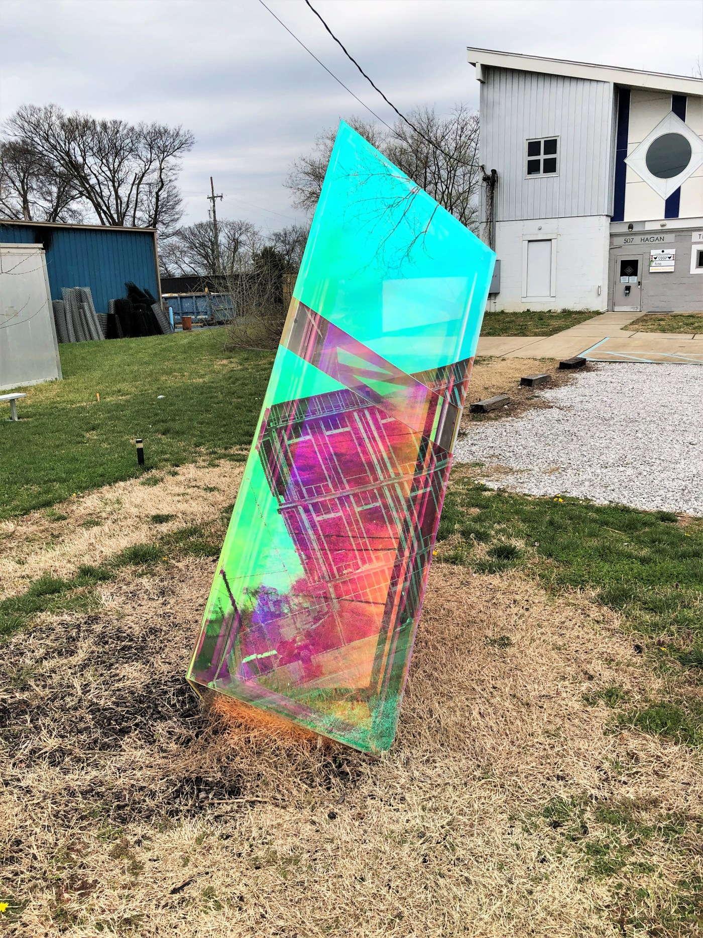 Bending Normal sculpture street art Nashville