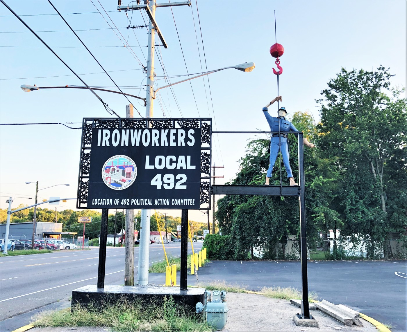 Ironworkers Sign street art Nashvile