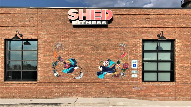 Shed Mural street art Nashville