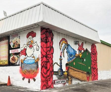 Las Rosa mural street art Nashville