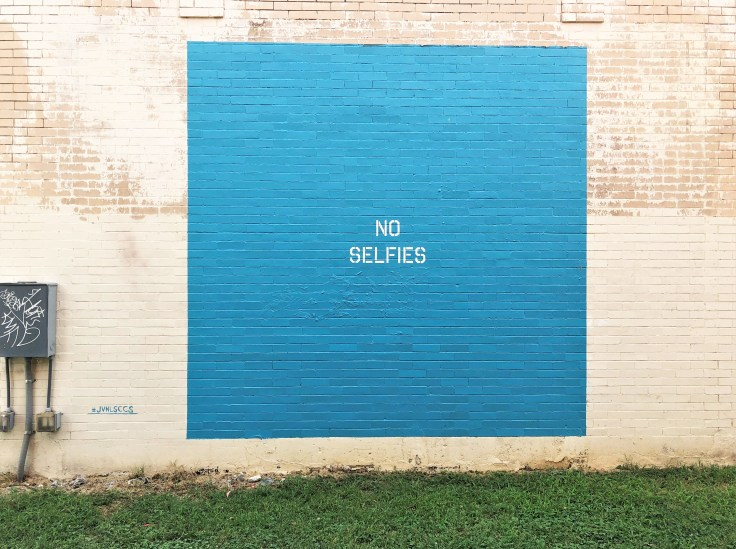 No Selfies mural street art Nashville