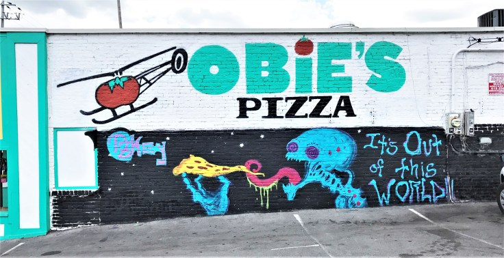 Pizza Mural street art Nashvillle