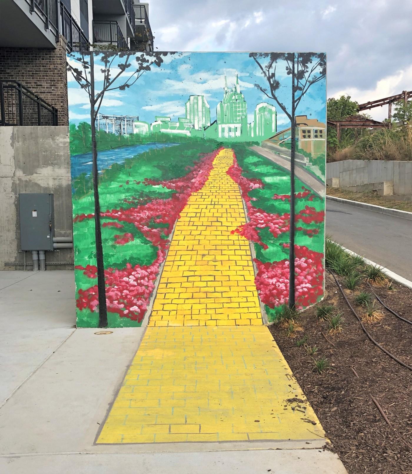 Yellow Brick Road mural