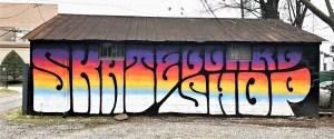 Hunt Supply sign mural street art Nashville