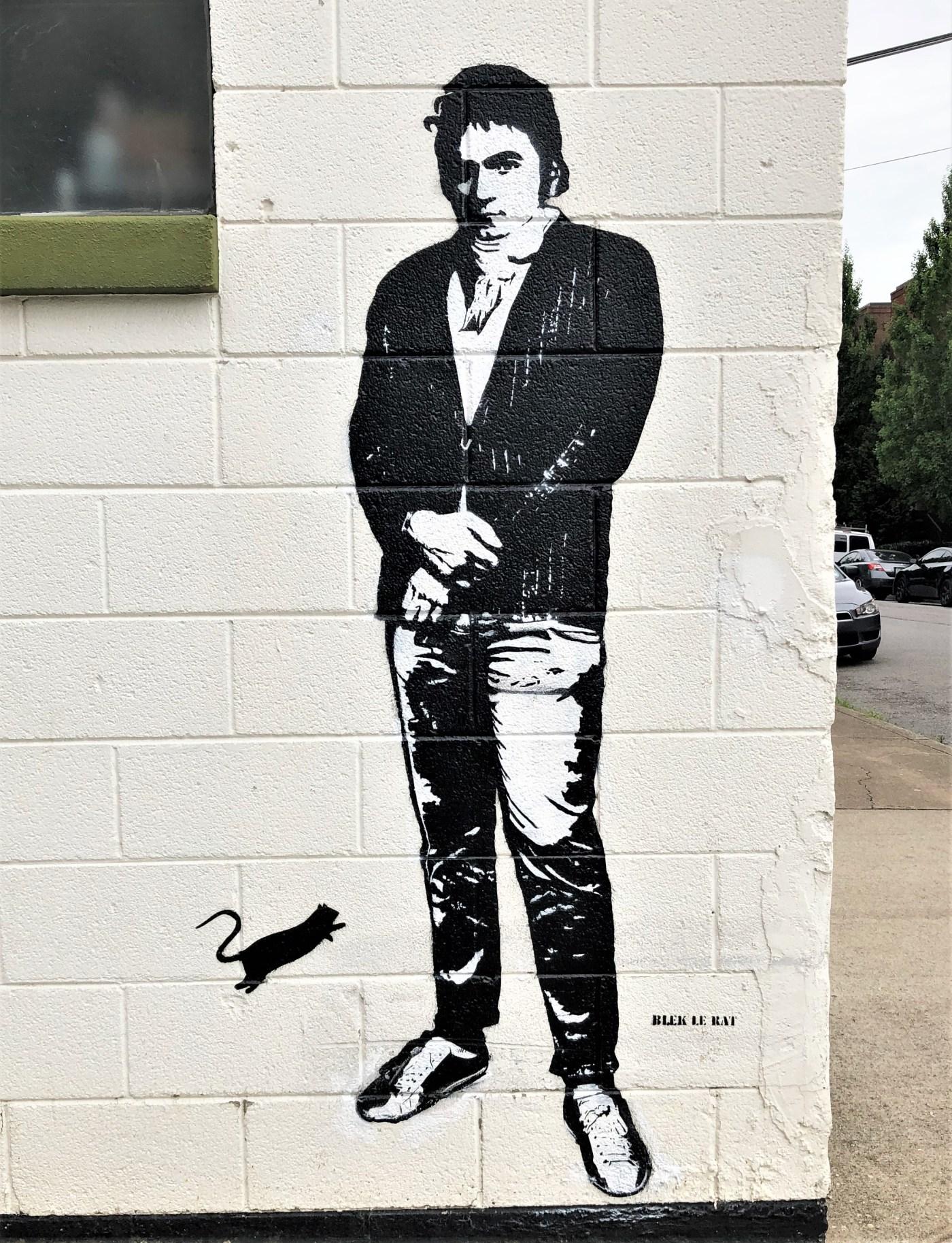 Bleck Beethoven mural street art Nashville