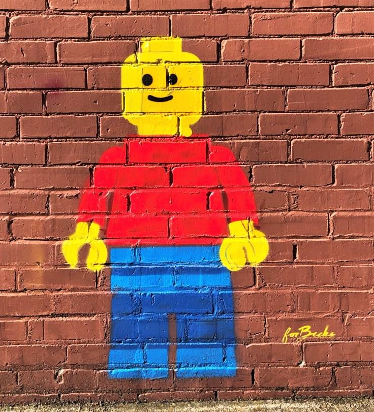 For Becks Lego man street art Nashville