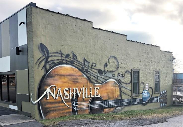Guitar Mural street art Nashville