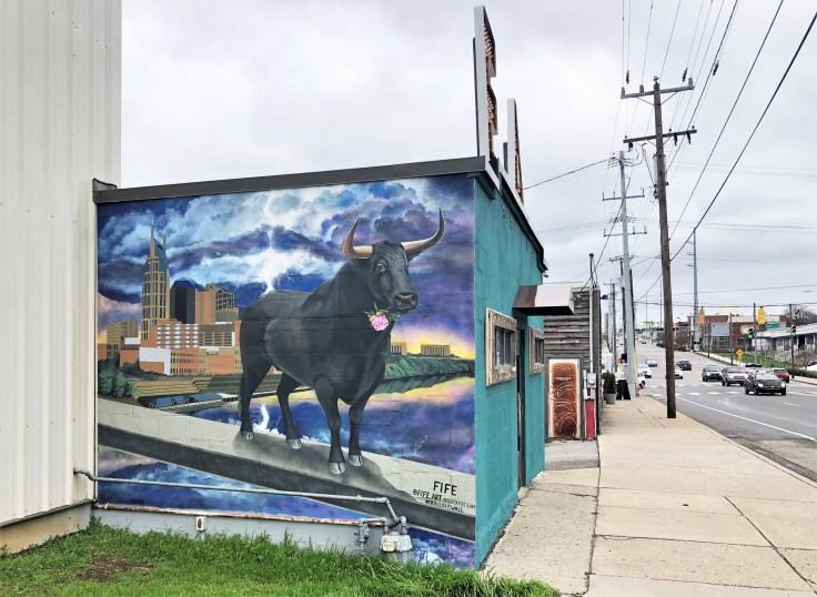 Bullsit mural street art Nashville