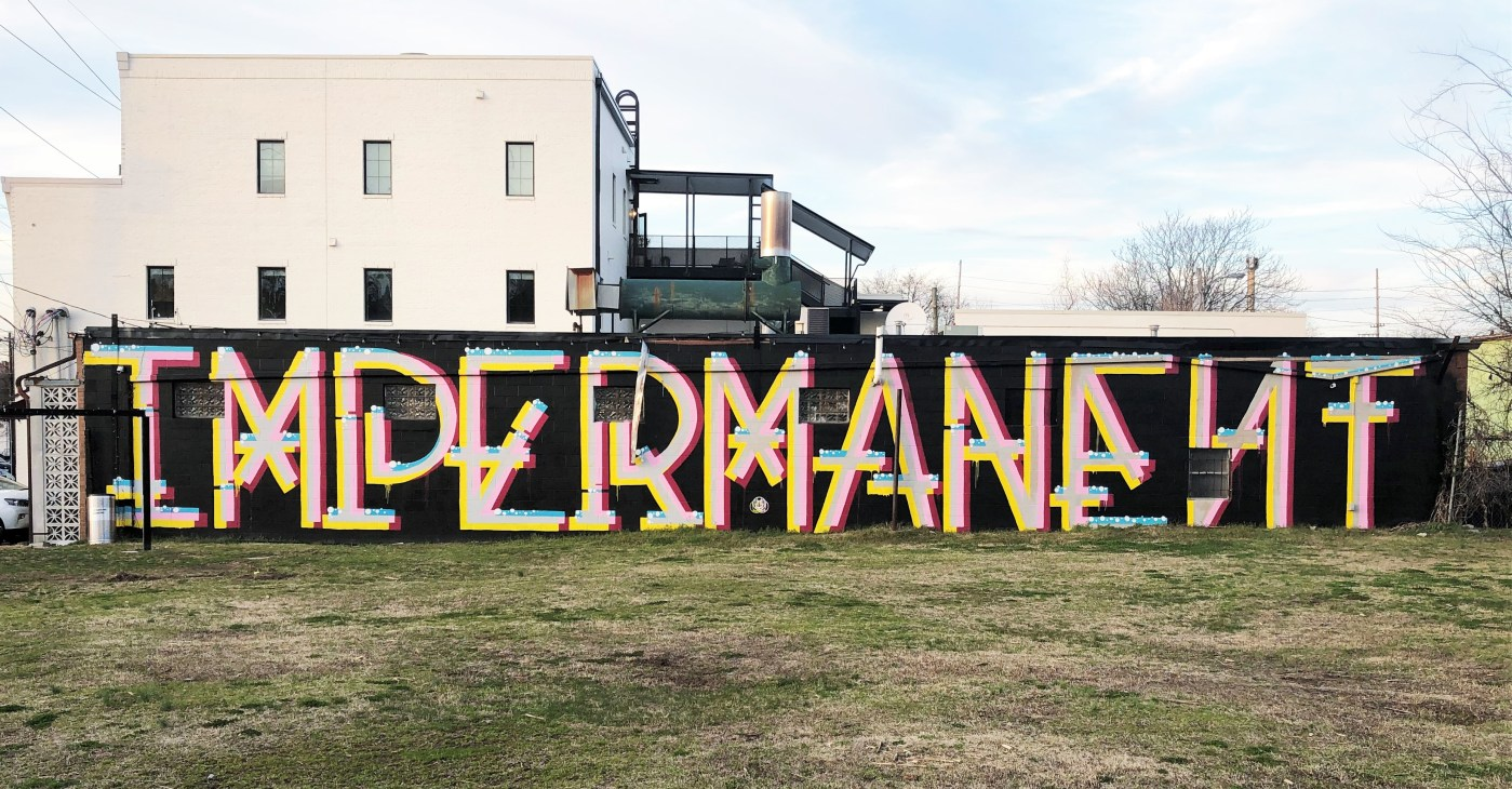 Impermanent mural street art Nashville