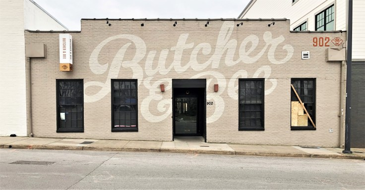 Butcher&Bee mural Nashville street art sign