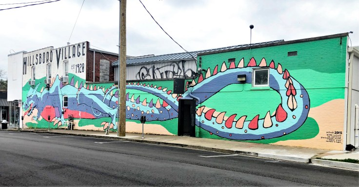 Dragon Mural Nashville street art
