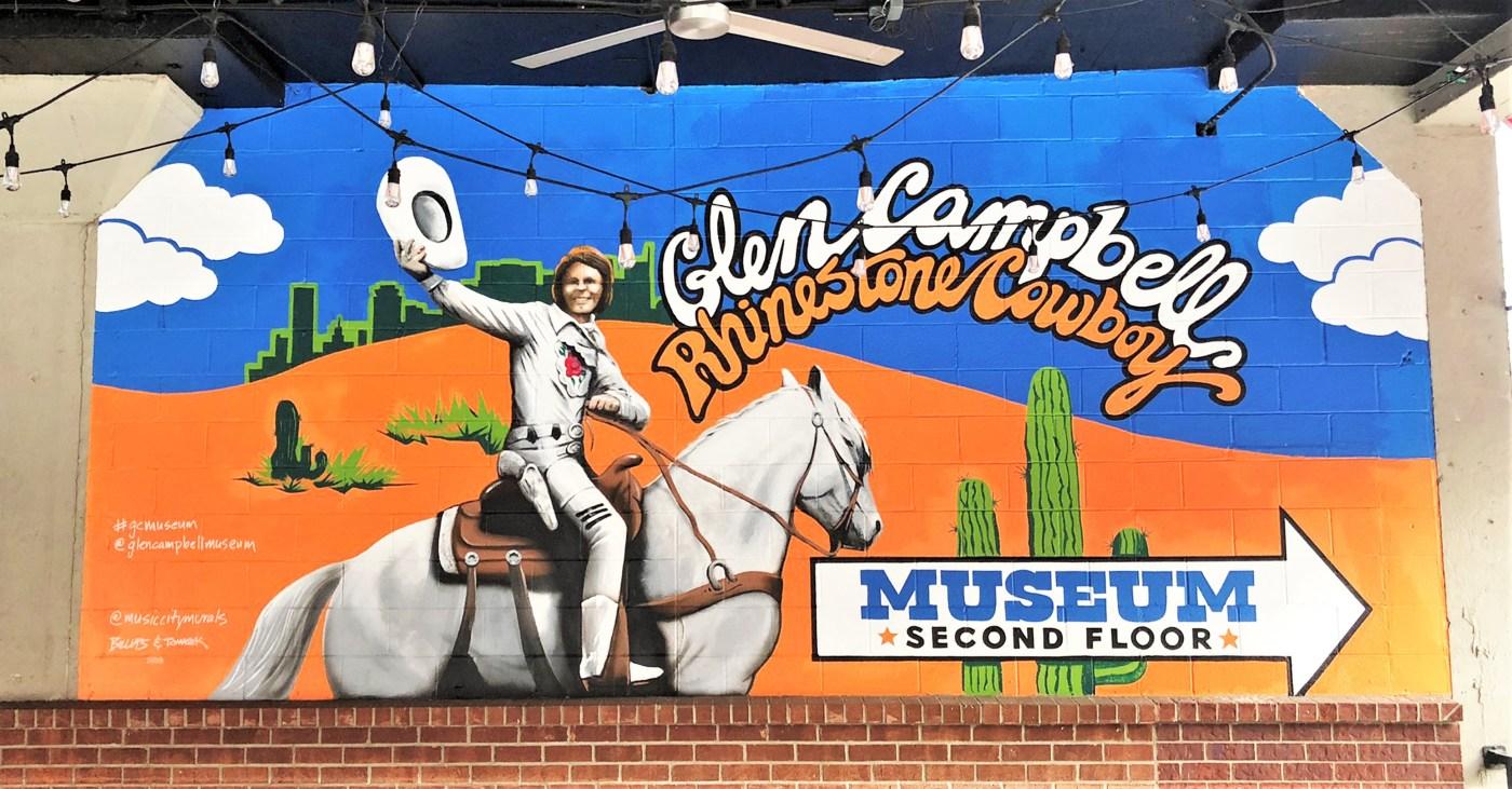 Glen Campbell mural Nashville street art