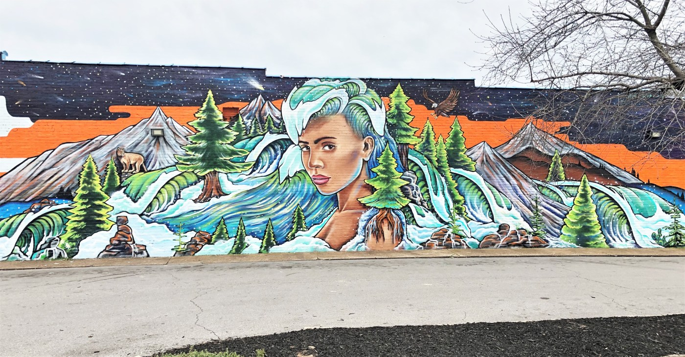 Hair World Mural street art Nashville