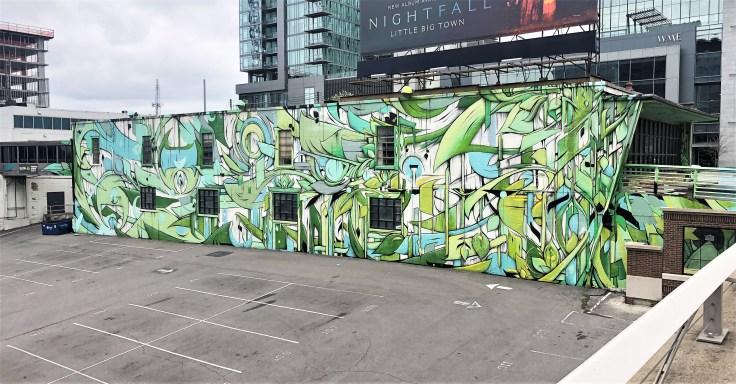 Ross Mural Nashville street art Gulch