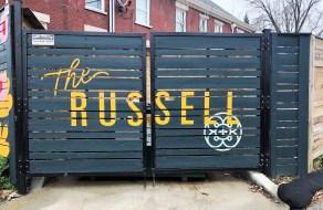 Russell mural sign Street art Nashville