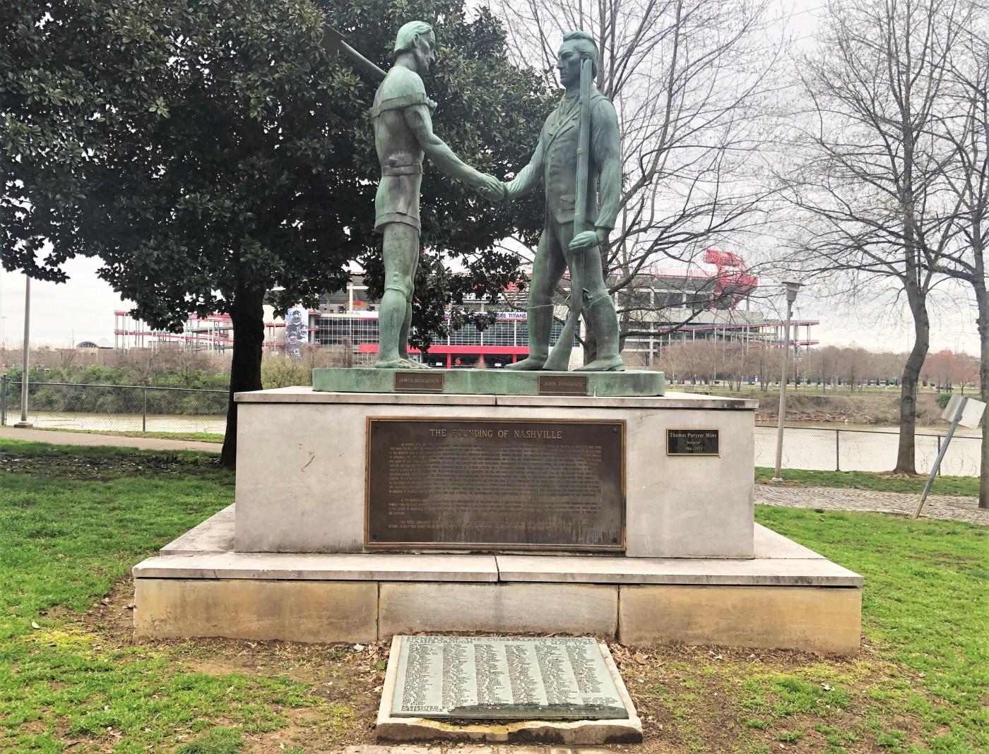 Cumberland Compact sculpture Nashville street art