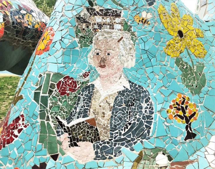Mosaic portrait Nashville Street art