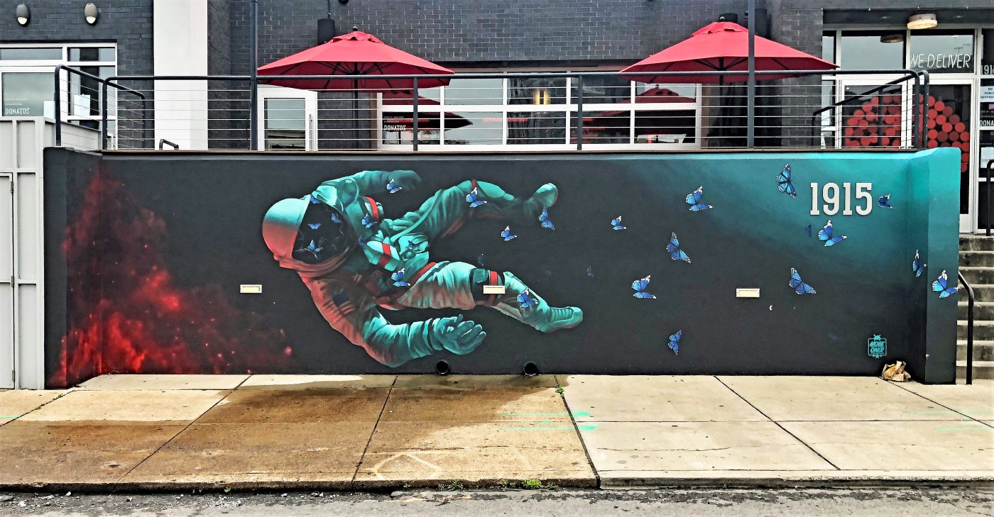 Spaceman Mural Nashville Street Art