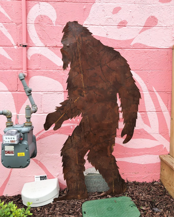 Bigfoot sculpture Nashville street art
