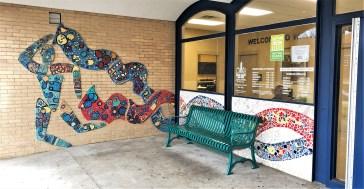 Watkins Figures mural mosaic Nashville Street art