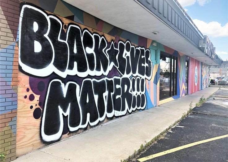 BLM mural sign Nashville street art