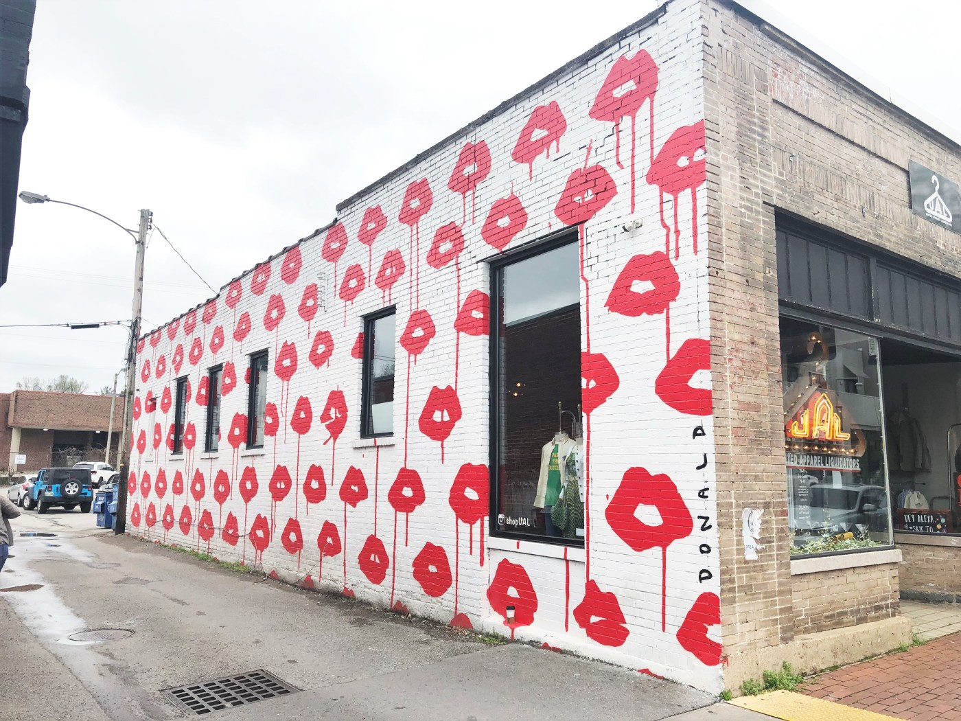 Lips Mural Nashville street art