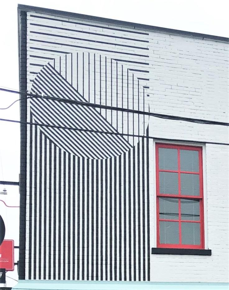 Linden Building Stripes Nashville street art