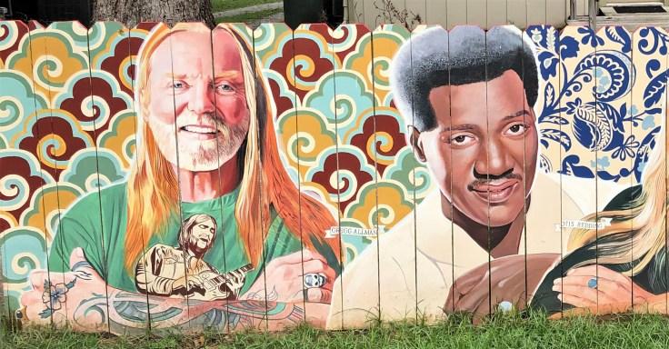 Fence face mural Nashville street art