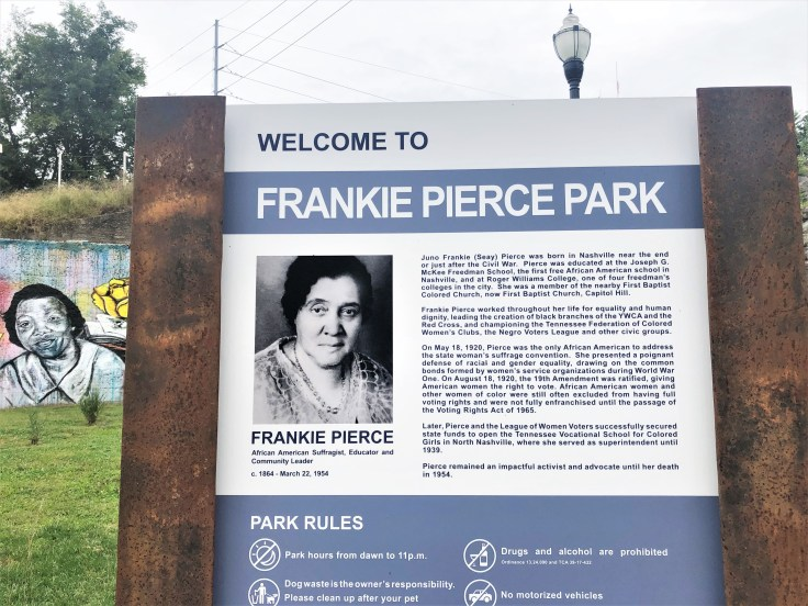 Frankie Pierce Park sign