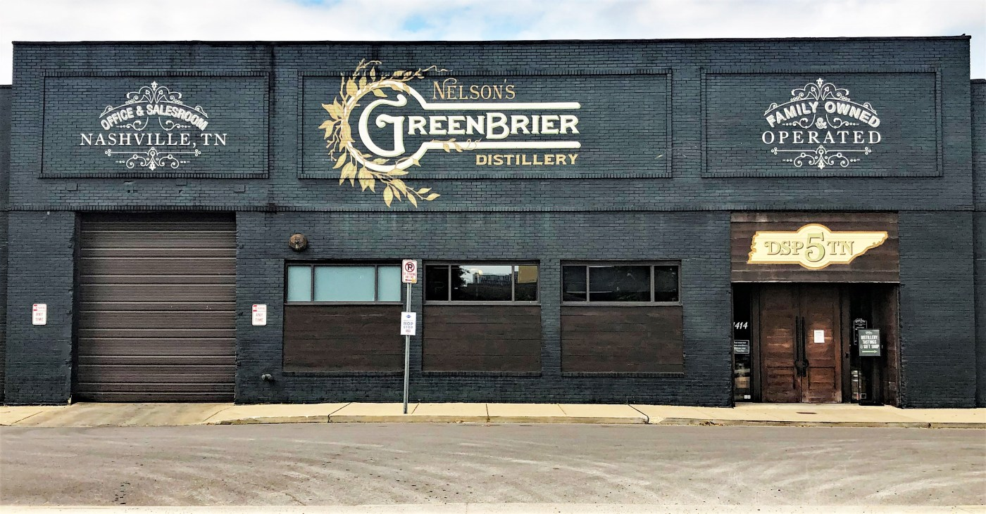 Greenbrier Sign mural Nashville street art
