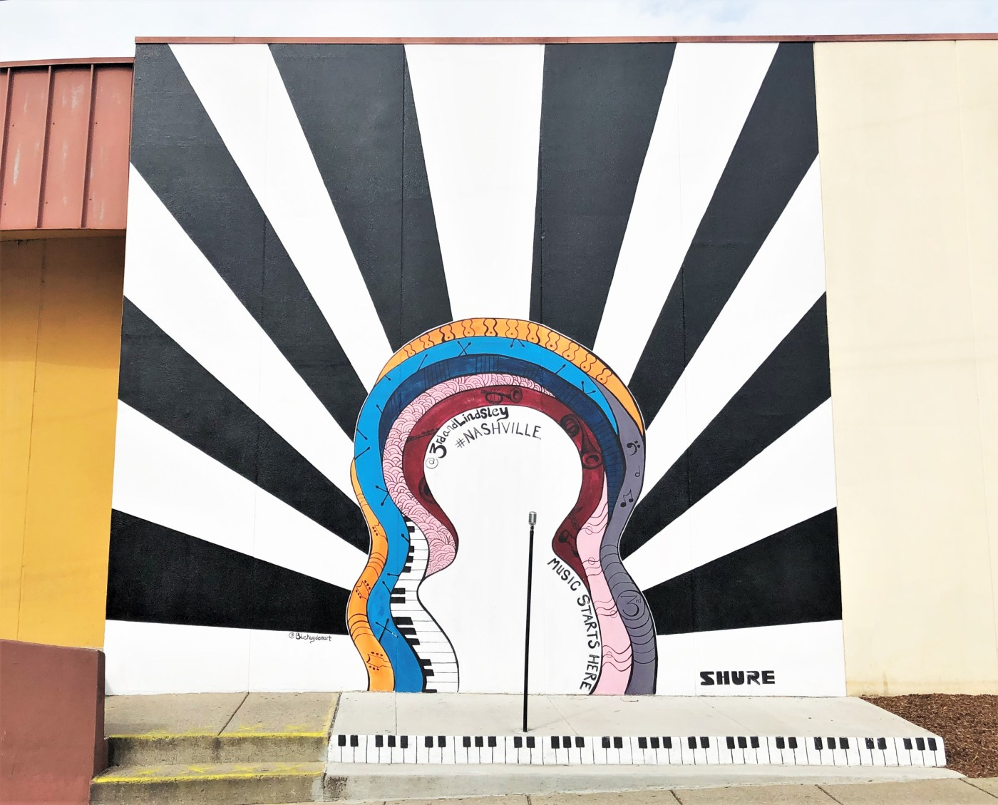 Music Starts mural Nashville street art