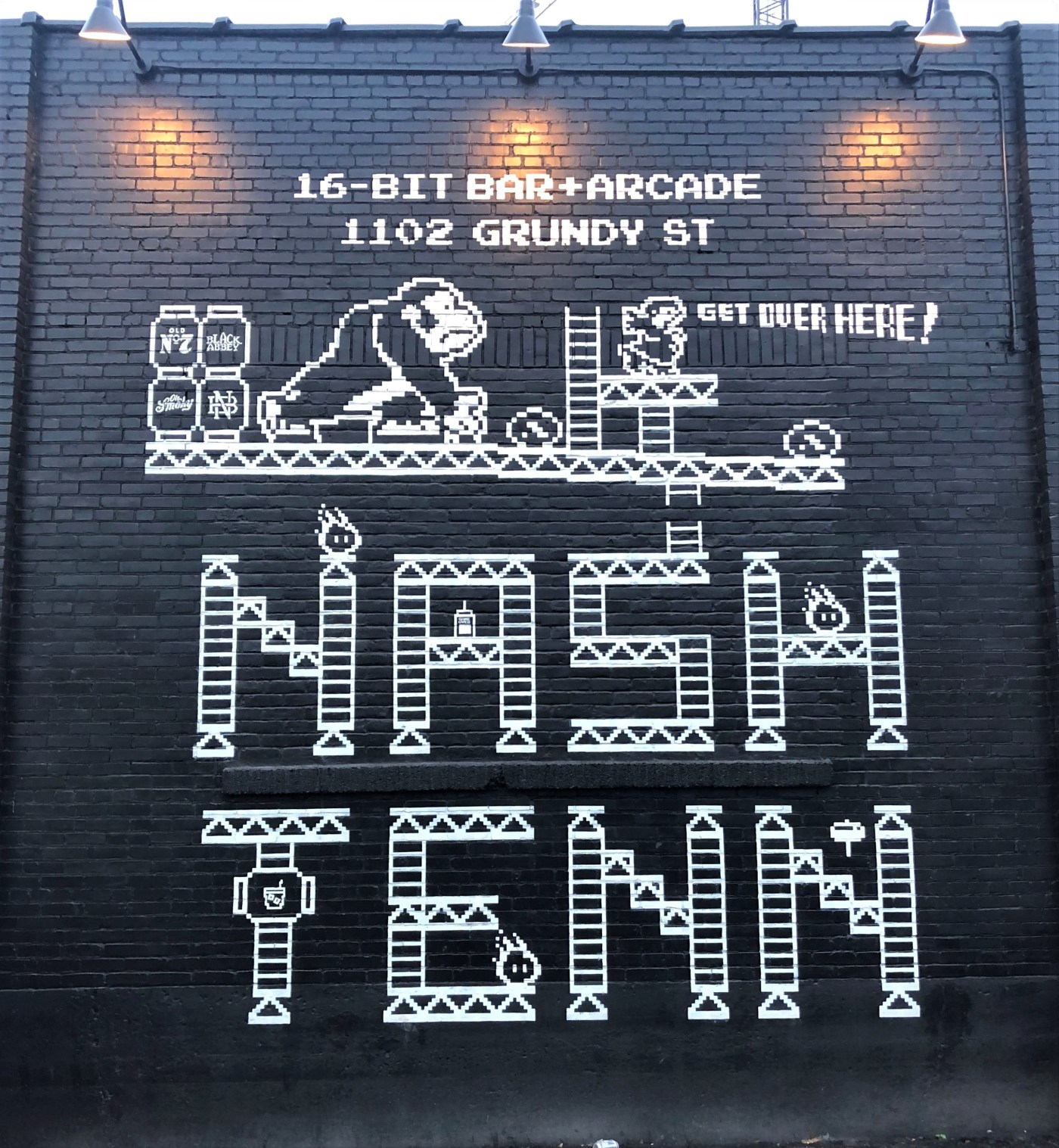 16 Bit Mural Nashville street art