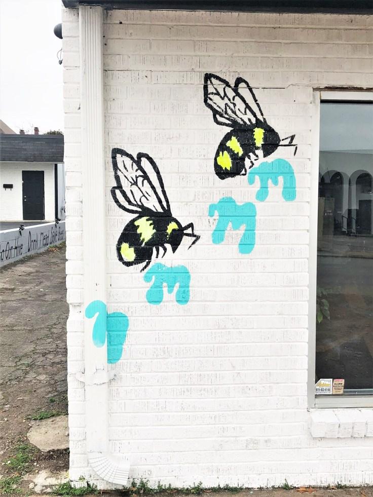 Mindmilk Bees mural Nashville street art