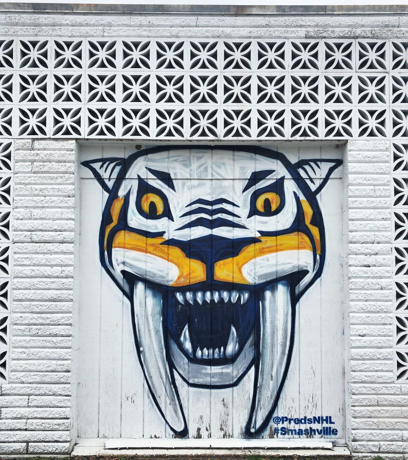 Smashville Predators Mural Nashville street art
