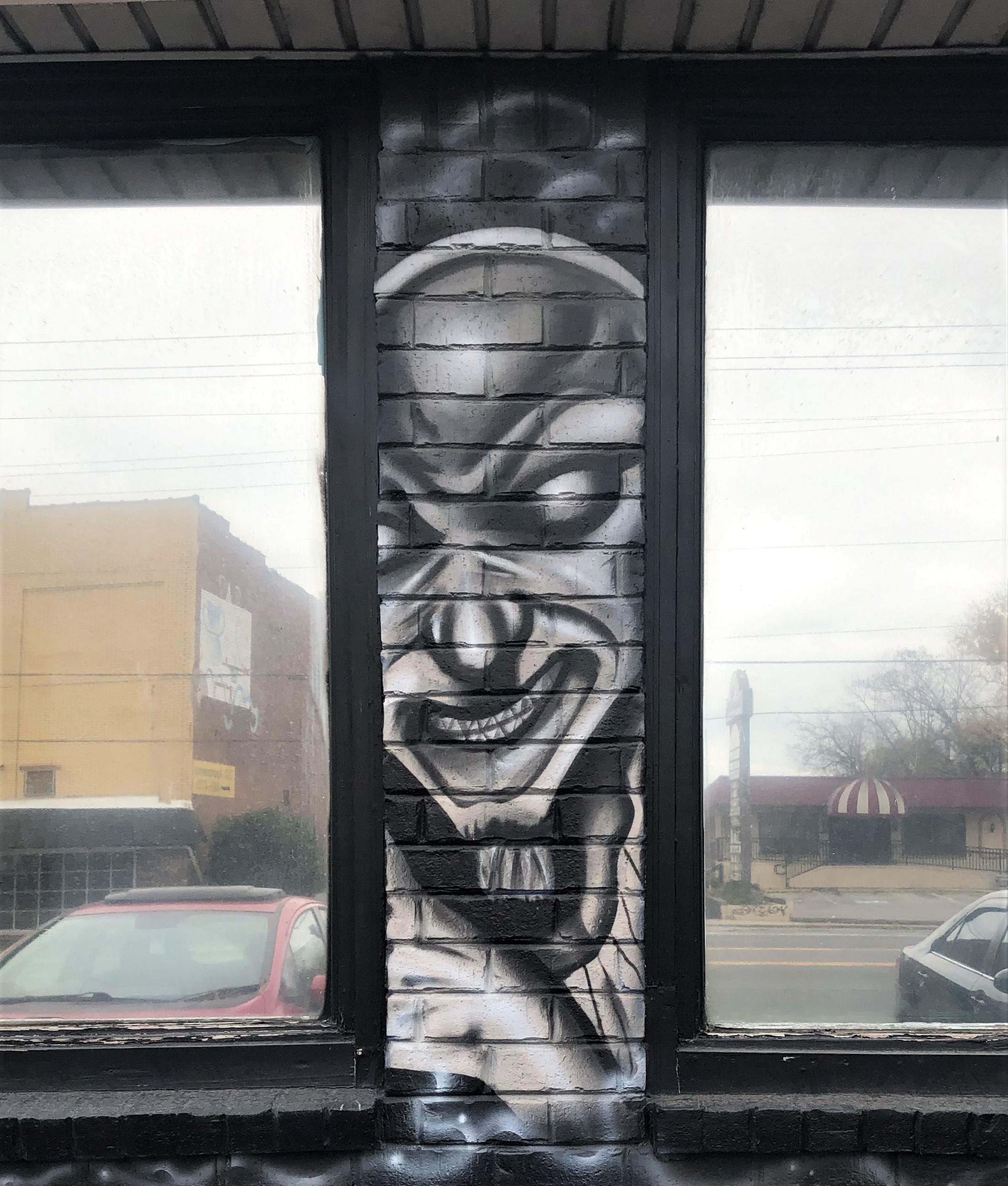 Face mural Nashville street art