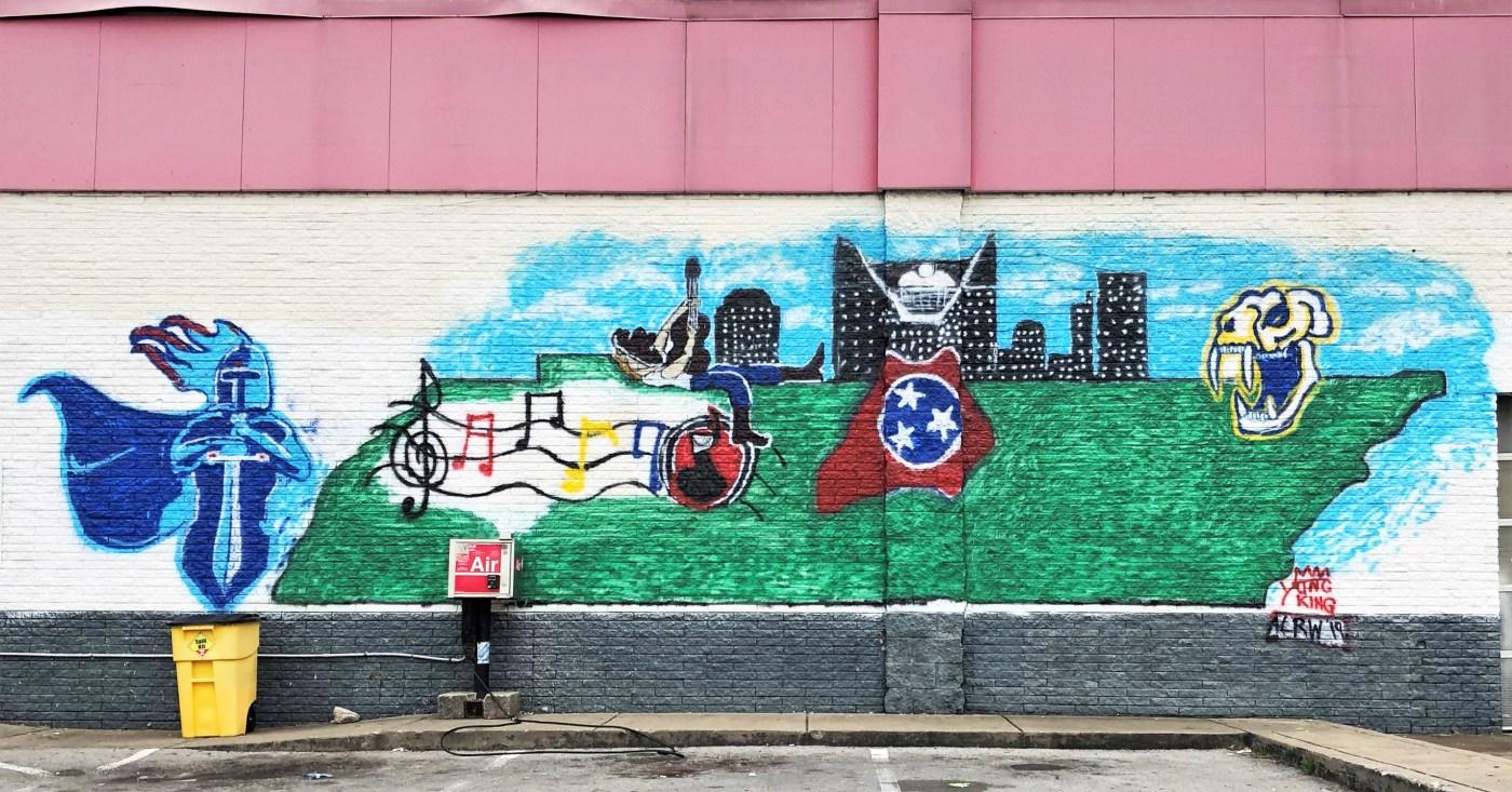 Citgo Mural Nashville street art