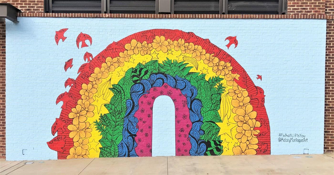 Rainbow Mural Nashville street art