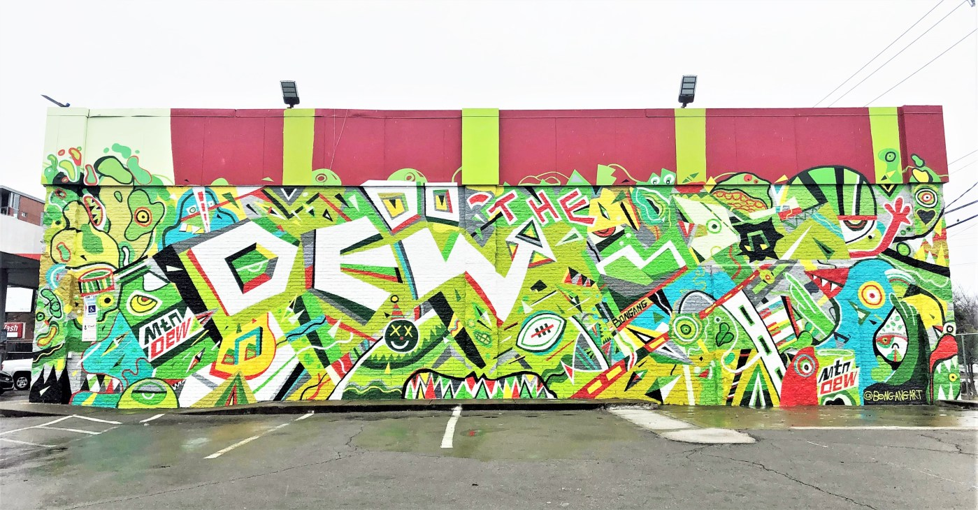 Mountain Dew Mural Nashville street art