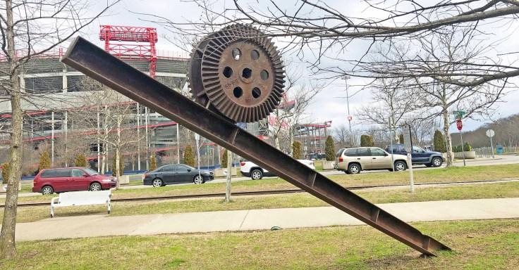 Incline Sculpture Nashville street art